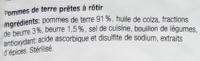 Rösti au beurre - Ingrédients - fr
