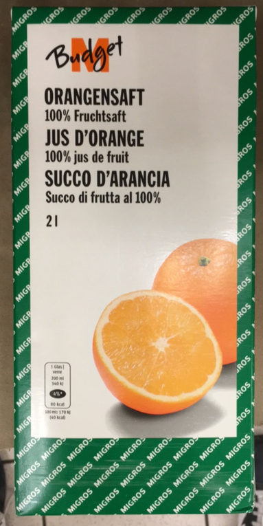 M Budget Orangensaft - Produkt - fr