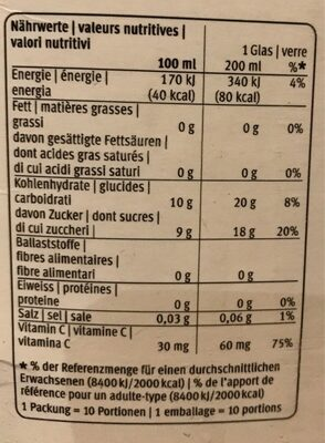 M Budget Orangensaft - Nährwertangaben - fr