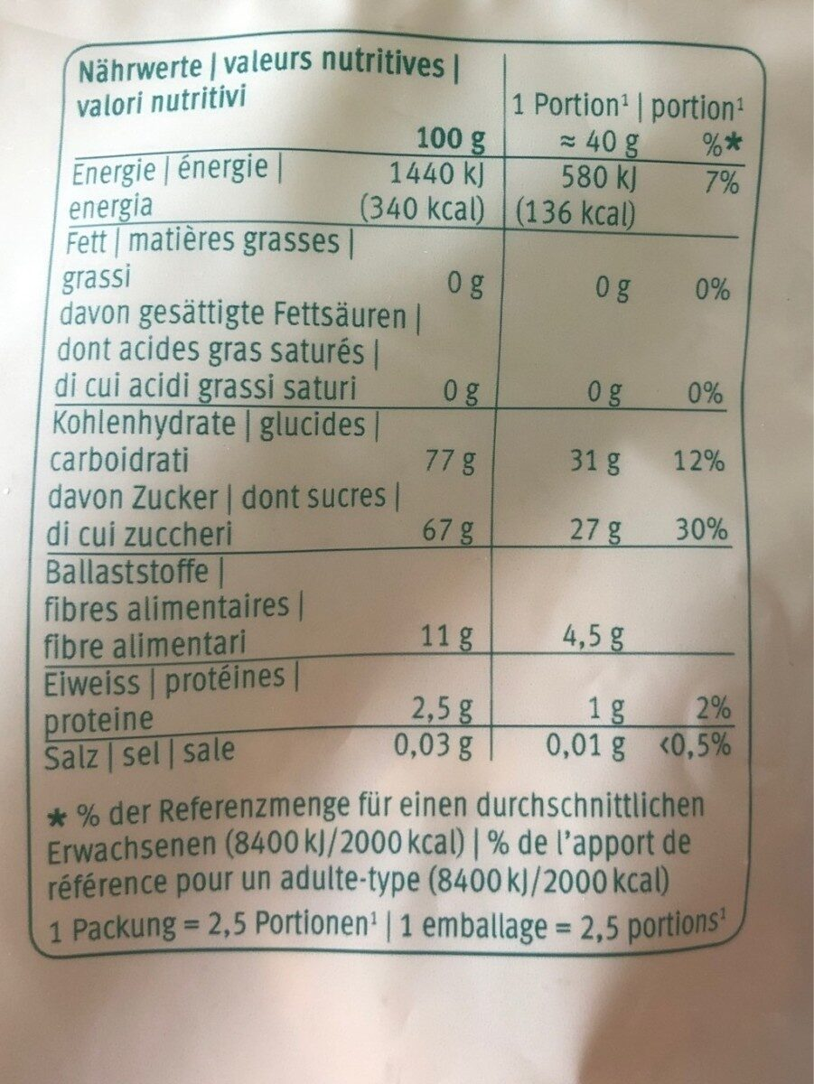 Tranches d'ananas - Nutrition facts - fr