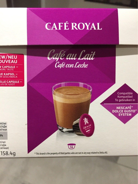 Cafe Royal Compatible Dolce Gusto Café Au Lait X16 16x9 9g 158 4g