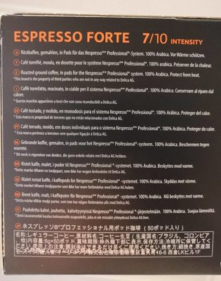Espresso forte - Ingredients
