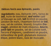 Délices aux épinards - Ingredients