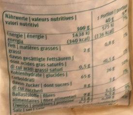 Mélange d'épeautre - Nutrition facts