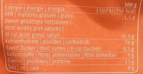 Halbweissmehl - Valori nutrizionali - fr