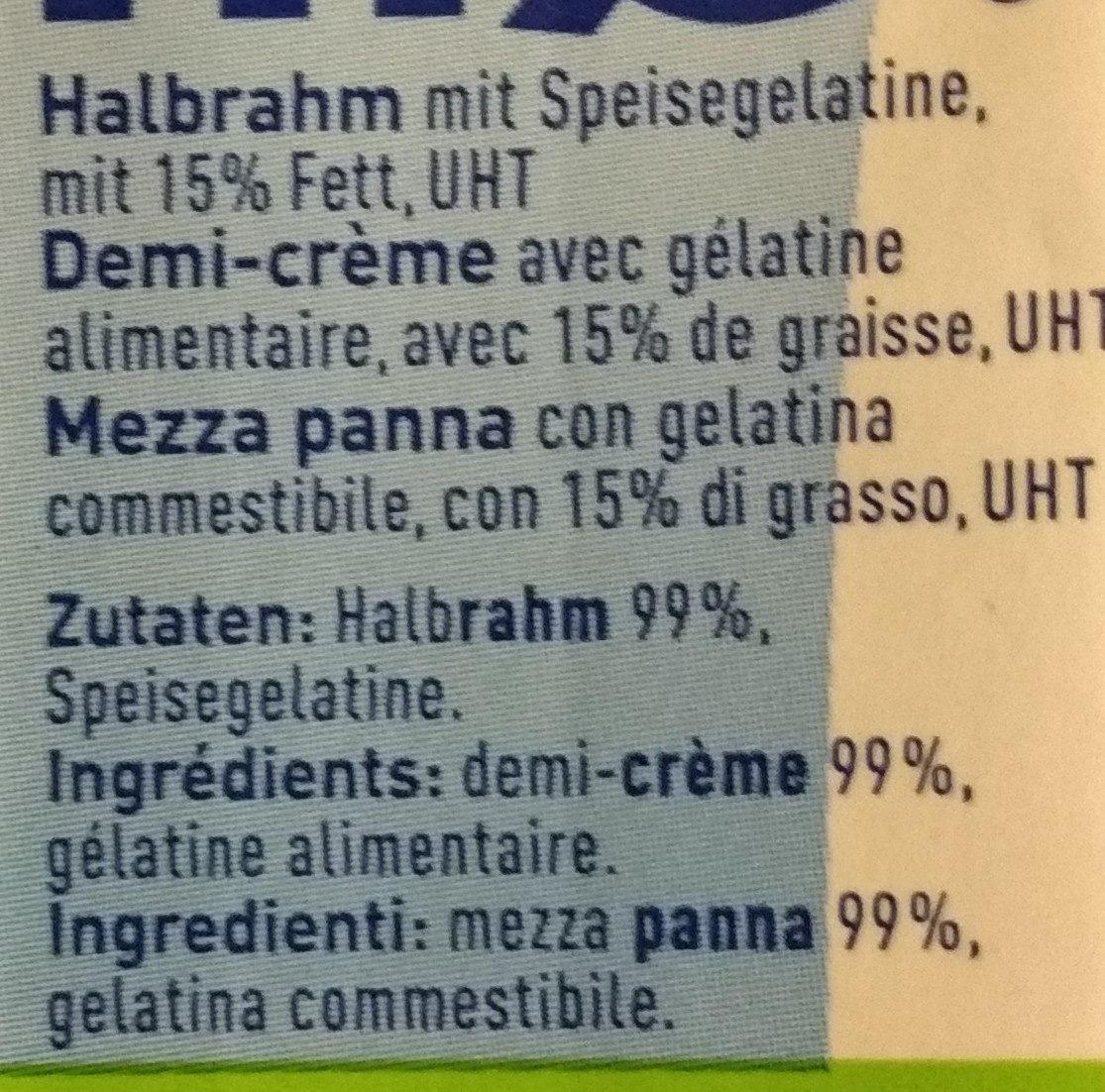 Qimiq Verdickter Halbrahm Uht - Ingredients - fr
