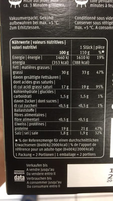 Grill cheese steak - Nutrition facts - fr