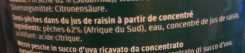 Pfirsichhälften - Ingrédients - fr