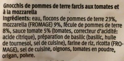 Gnocchi caprese - Ingrédients - fr