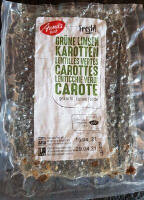 Lentilles vertes carottes - Prodotto - fr