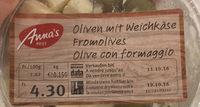 Olives vertes  dénoyautées avec fromage à pâte molle et ail - Product - fr