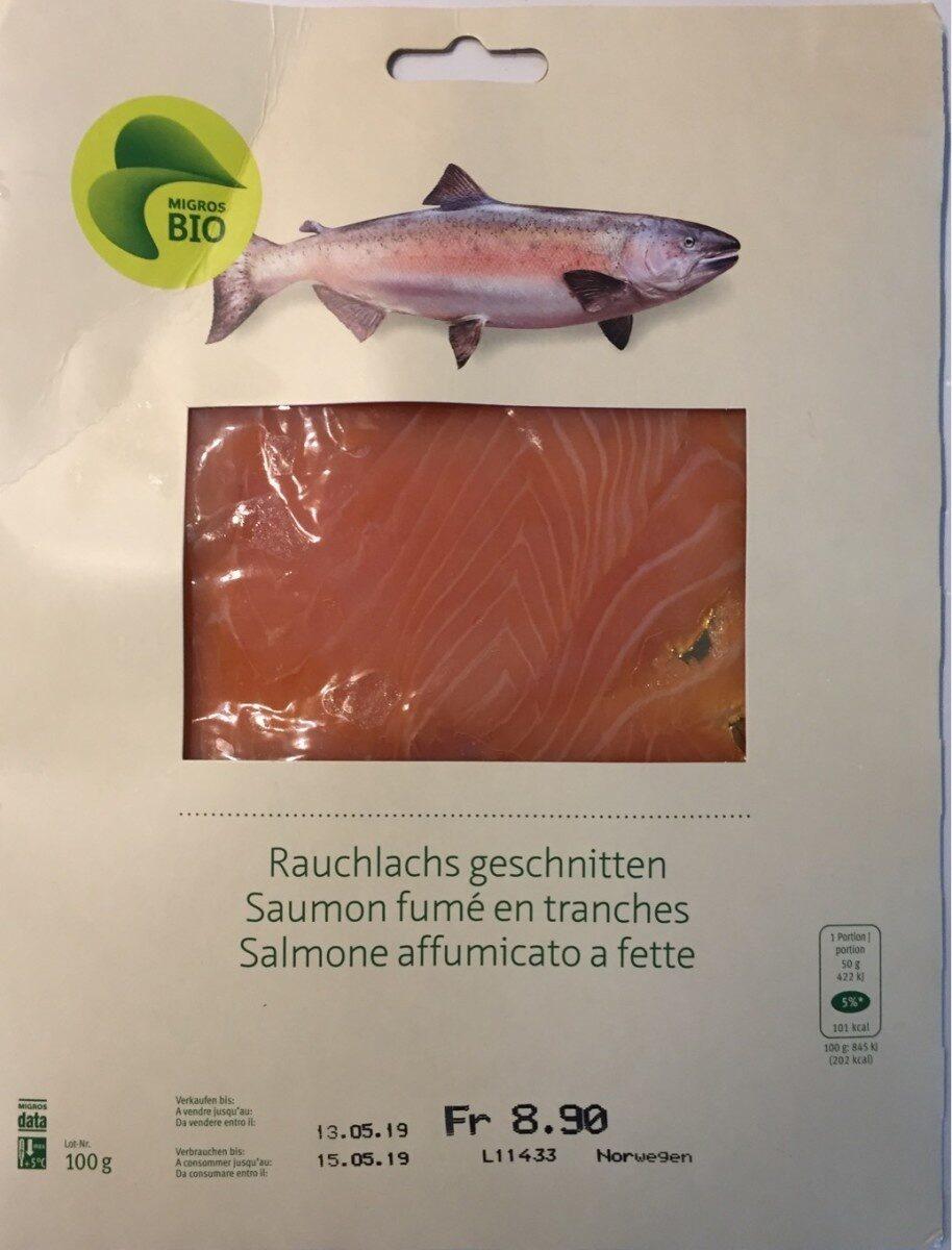 Salmon smoked in slices - MIGROS BIO - 100 g