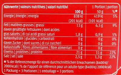 Coeur de filet de saumon - Nutrition facts - fr
