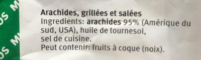 Arachides Salées - Ingredienti - fr