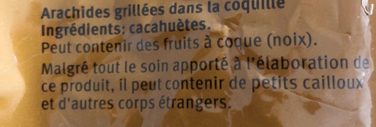 Cacahouetes - Ingredienti - fr
