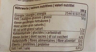 Cacahouetes - Valori nutrizionali - fr