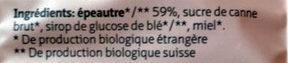 Epeautre soufflé - Ingredienti - fr