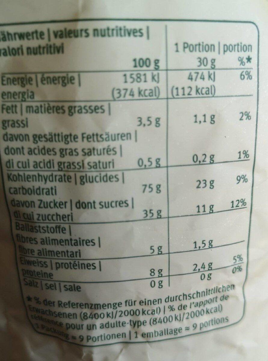 Epeautre soufflé - Valori nutrizionali - fr