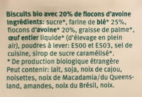 Biscuits d'avoine - Ingredients