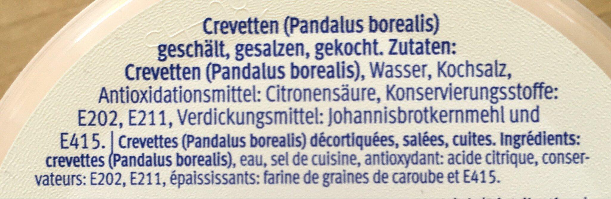 Crevette en saumure - Ingredienti - fr