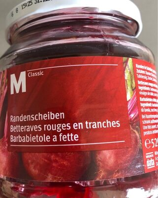 Betteraves rouges en tranches - Product - fr