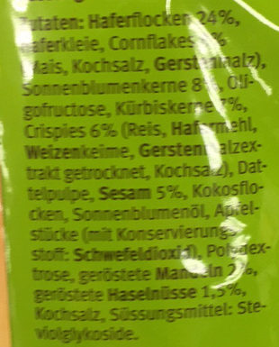 Kerne & Nüsse - Ingredients