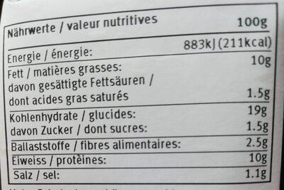 Vegi oeuf - Voedingswaarden - fr
