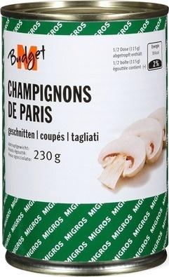 Champignons de Paris coupés - Produit