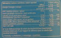 M-classic Choco Sticks - Valori nutrizionali - fr