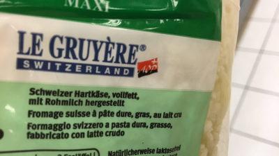 Gruyère râpé - Ingredients - fr