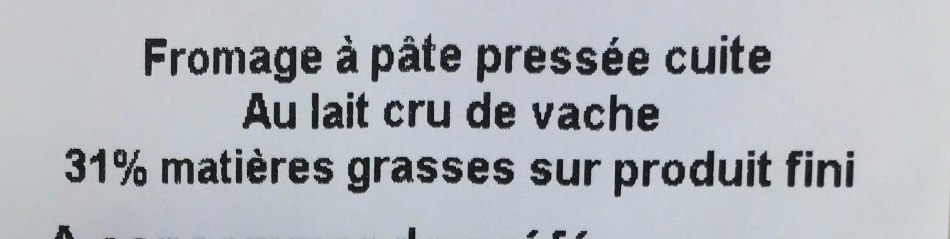 Emmentaler Doux (31% MG) - Ingrédients - fr