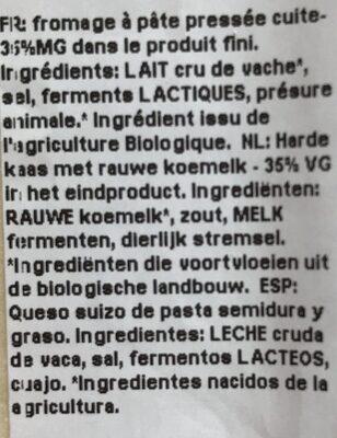 Le Gruyere - Ingrédients