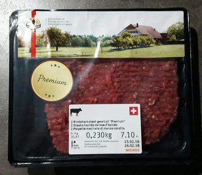 Steaks hachés de boeuf épicés, Premium - Prodotto - fr