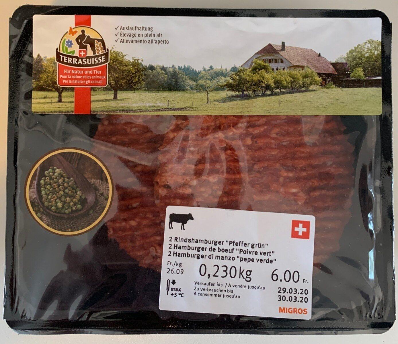"Hamburger de boeuf ""Poivre vert"" - Prodotto - fr"