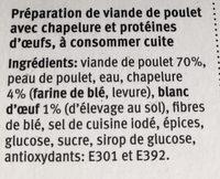 Pouletburger - Ingrédients - fr