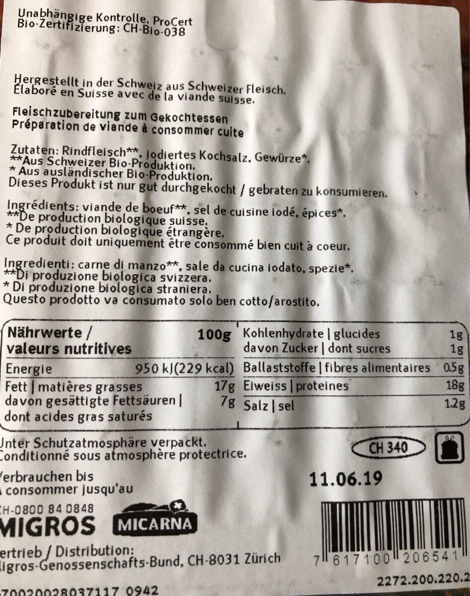 Steack haché - Product - fr