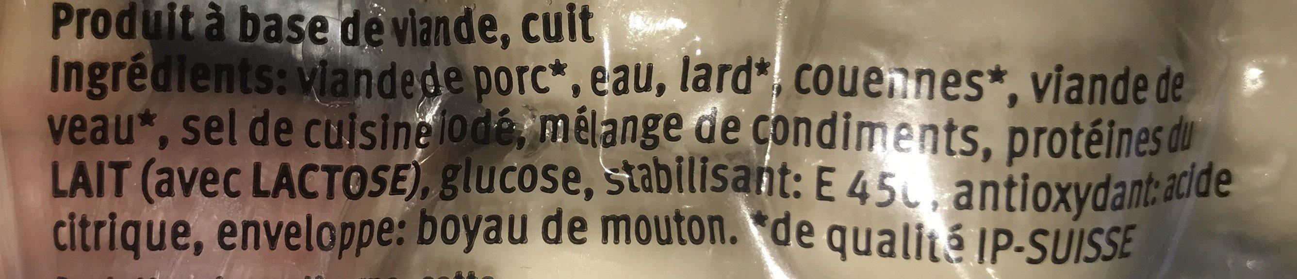 Kalbs Cipollata - Ingredienti - fr