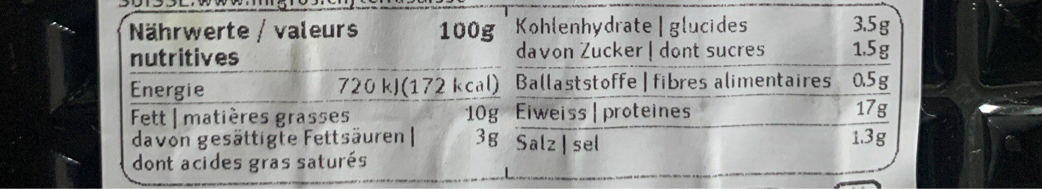 Hamburger de veau épicé - Informazioni nutrizionali - fr