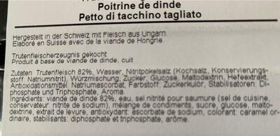 Trutenbrust - Ingrediënten - fr