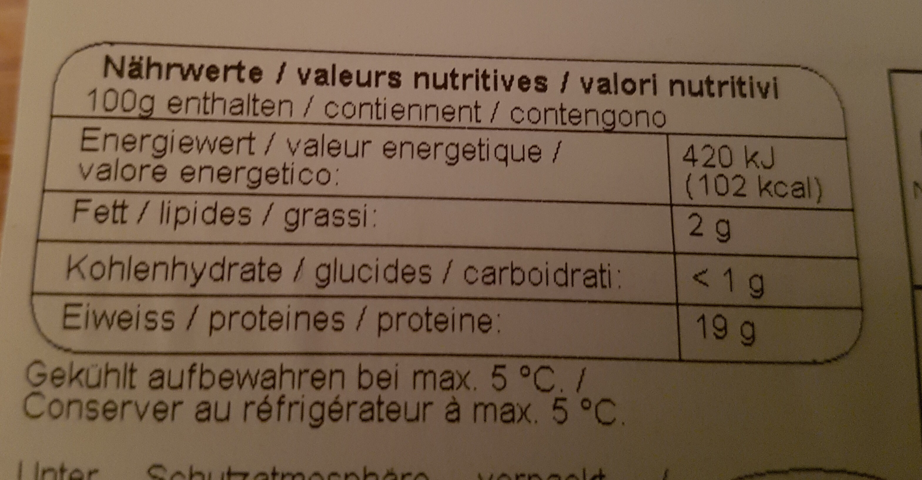 Trutenbrust - Voedingswaarden - fr