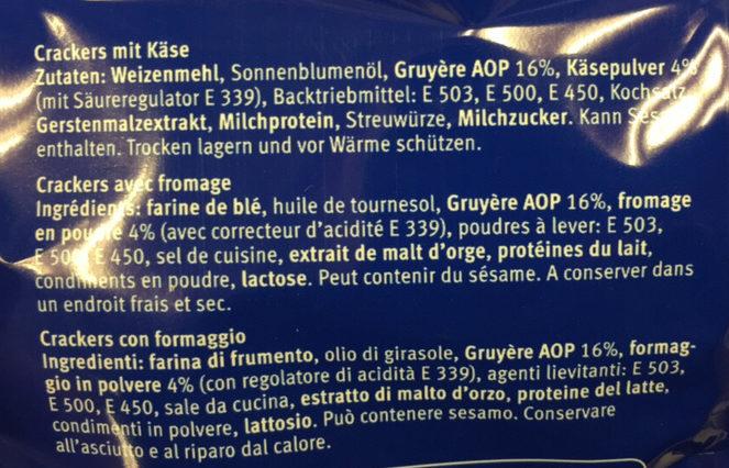 Gruyère AOP - Ingredients - fr