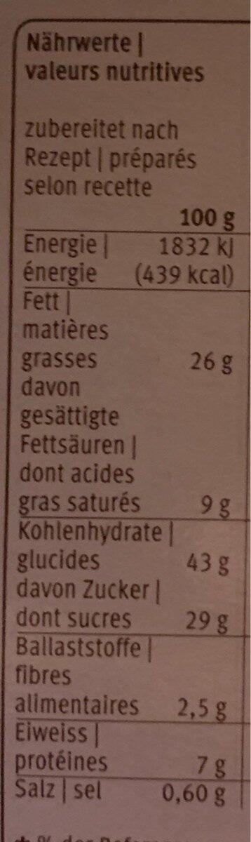 Homemade : Tiroler Cake - Voedingswaarden - fr