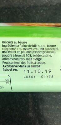 Butterli - Ingredienti - de