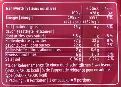 Petit Beurre - Voedingswaarden - fr
