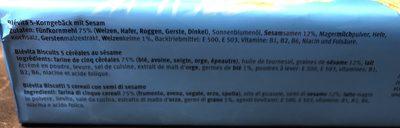 Blévita au sésame - Ingredients