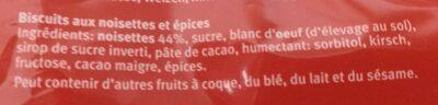 Bruns de Bâle - Ingredienti - fr
