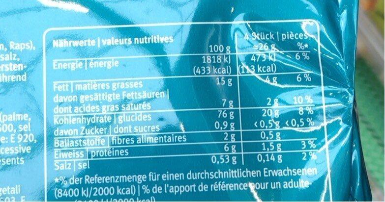 Petit beurre - Informations nutritionnelles - fr