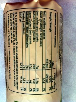 Biscuits à l'épeautre BIO - Nutrition facts