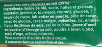 Gaufrettes avec Chocolat au Lait - Inhaltsstoffe