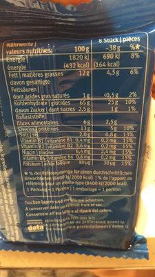 Biscuits Blévita Thym-sel marin. - Informations nutritionnelles